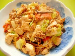 キャベツとひき肉の炒り豆腐