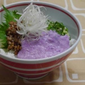 紫山芋のネバネバ丼