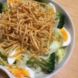 サラダ麺を使ってパリパリサラダ