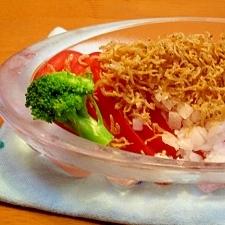 ひんやりトマトのカリカリジャコサラダ