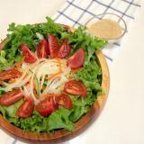 6種類の生野菜サラダ ゴママヨドレッシング♪
