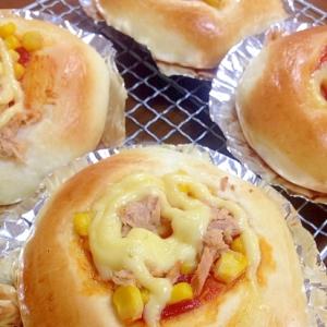 ツナコーンケチャップパン