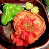 賀茂茄子のカリとろステーキ 生姜トマトソース添え