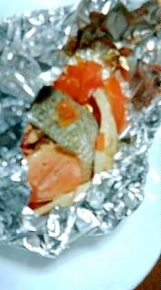 【グリル】鮭のホイル焼き