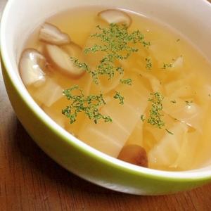 キャベツと椎茸の和風スープ