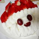 サンタケーキ 子どもでも作れる簡単クリスマスケーキ