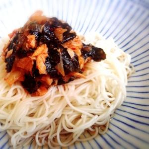 簡単アレンジ♪ツナキムチ素麺☆