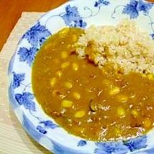 ココナッツミルク風味★キノコ&大豆のキーマカレー