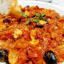バッカラ(鱈の塩漬け)のトマト煮込み