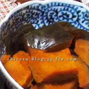 圧力鍋でガス代節約、かぼちゃの煮付け