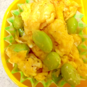 卵と枝豆の炒め物