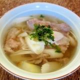 牛肉とねぎの和風スープ