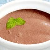 チョコレート味のヨーグルトムース