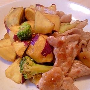 豚肉とサツマイモの炒め物