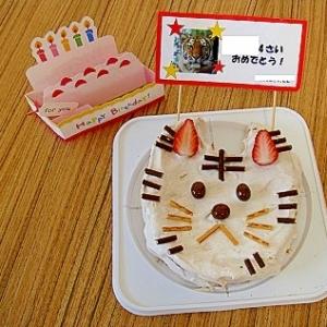 うちのおやつ「にゃんこケーキ(トラ)」