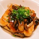 豆腐ステーキ♪甘辛キノコソース