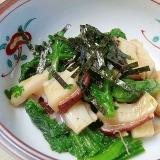 小料理屋の先付☆ 「タコと春菊酢味噌和え」