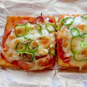 おつまみにトースターで焼く☆厚揚げのピザ風☆