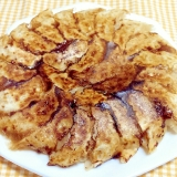 豚肉と白菜の羽根付き焼き餃子