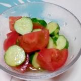 トマトときゅうりの簡単マリネ++