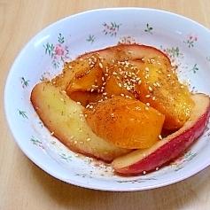 柿とりんごのバターソテー