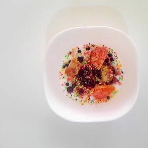 いちじく、柿、ブルーベリーのヨーグルト