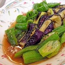 *今や夏の定番!野菜の揚げびたし*