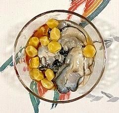 銀杏と牡蠣の和え物