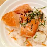 鮭の塩麹焼きで手抜きちらし寿司