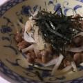 玉ねぎと納豆