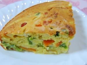 簡単☆玉ねぎが美味しい!たっぷり野菜のケークサレ