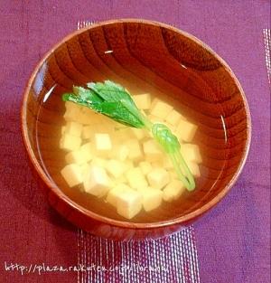 刻み豆腐と三つ葉の簡単すまし汁♥ひな祭りにも