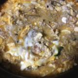 キムチ鍋でオートミール入り雑炊