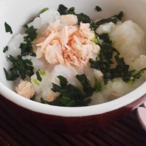 離乳食★鮭とほうれん草のお粥