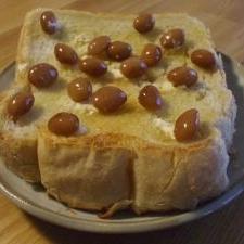 まめパン? 煮豆トースト!