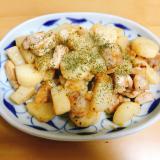 【夫婦のおつまみ】山芋と豚肉のガーリック醤油炒め