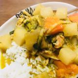 野菜たっぷりのグリーンカレー