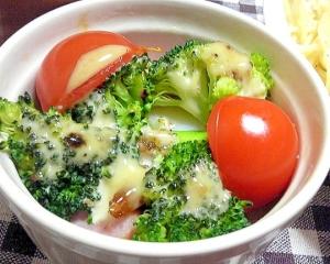 ミニトマトとブロッコリーのオーブン焼き