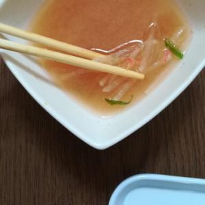 大根と干し小エビのお味噌汁