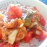 納豆の食べ方-キムチ&トマト&もずく酢♪