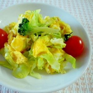 卵とキャベツのホット炒めサラダ