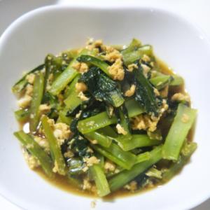 簡単に小松菜の煮浸し