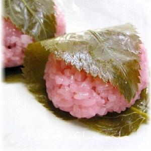 """レンジで作る""""桜餅"""""""