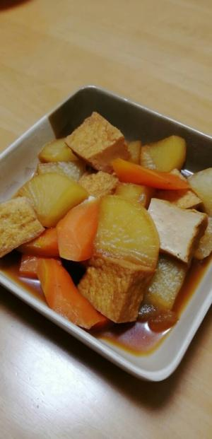 味しみ(^^)大根と厚揚げの煮物