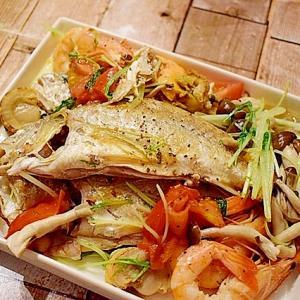 【おうちでおつまみ】魚介たっぷり簡単アクアパッツァ