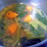 人参&小松菜の味噌汁
