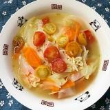 プチトマトとたっぷり野菜の塩ラーメン