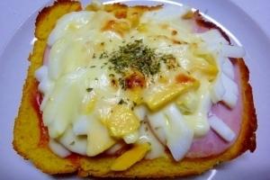 ☆厚切りハムと卵のチーズトースト☆