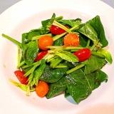 【簡単】サラダほうれん草のごま油ドレッシング和え