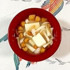 なめことブナピーのお味噌汁